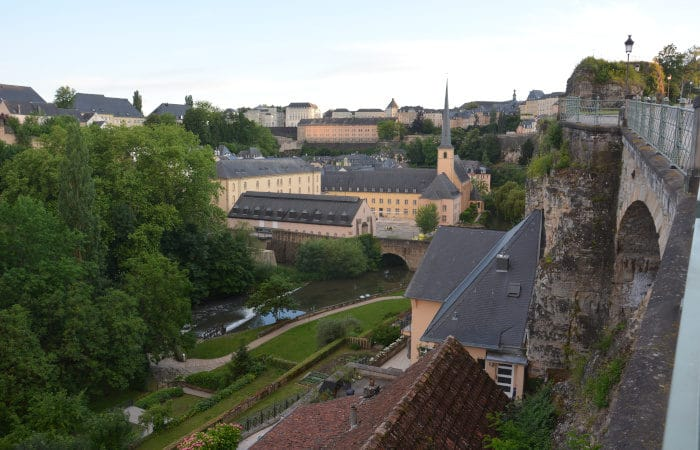 Luxemburg City Blick in den Grund