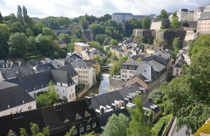 Luxemburg City - Grund-Blick