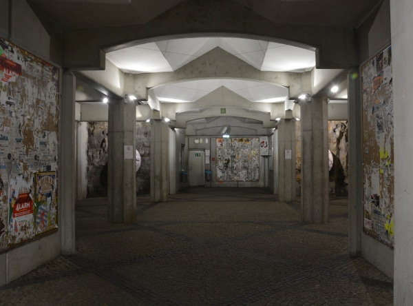 Luxemburg City - Aufzug Station im Stadteil Grund zum Justizpalast Luxemburg
