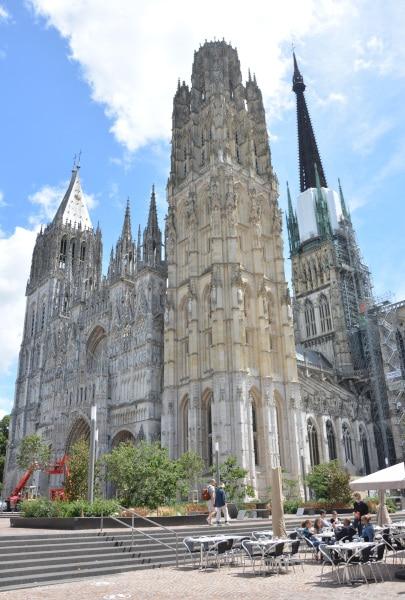 Radtour Frankreich Reims - Mont-Saint-Michel: Rouen Cathedrale
