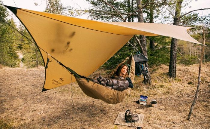 Auf Reisen mit underquilt  und Tarp als Hängematten - Dach outdoor übernachten