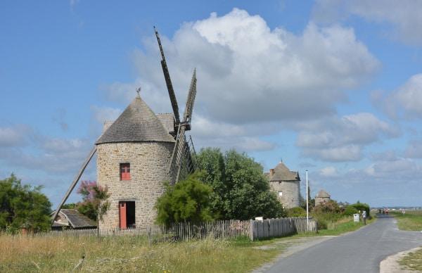 Baia de Mont Sant Michel - Mühlen am Deich