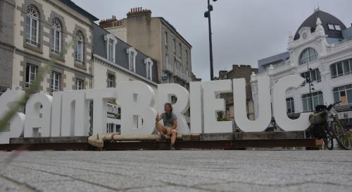 Auf Fahrrad-Tour: Ankunft in Saint Brieuc - Frankreich, Bretagne