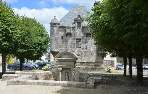 Turm in Guerlesquin Frankreich, Bretagne