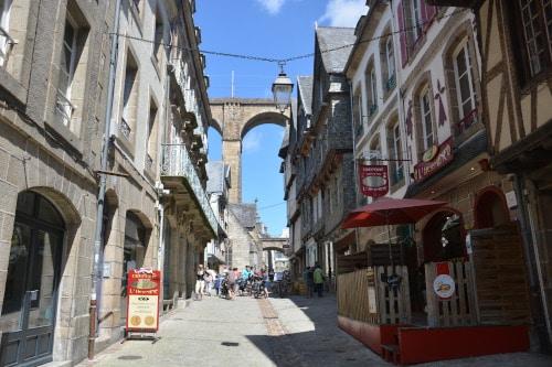 Gasse in Morlaix - Frankreich, Bretagne
