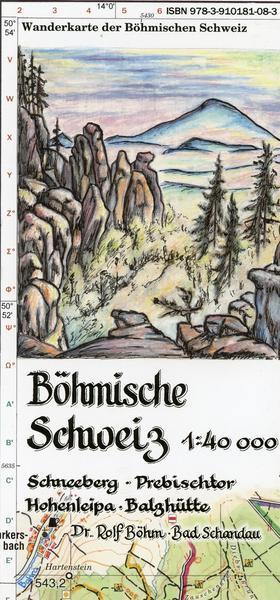 Wanderkarte Boehmische Schweiz