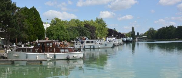 Hausboot Frankreich Reims Hafen