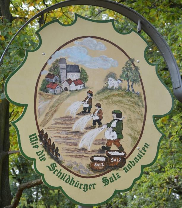 Schildau Stadt der Schildbürger - Salz säen am Salzberg