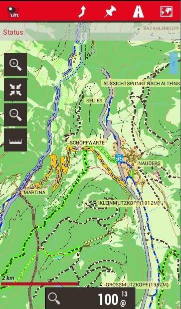 GPS App oruxmap mit Garmin-Karte
