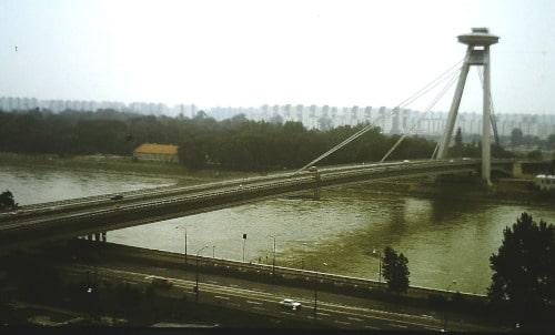 Südost - Europa-Tour Sommer 89 - Donaubrücke Bratislava