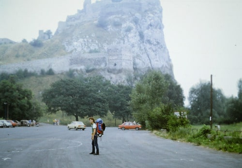 Südost - Europa-Tour Sommer 89 - Burg Devin