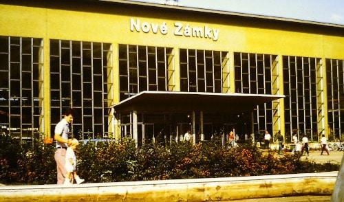 Südost - Europa-Tour Sommer 89: Bahnhof Nove Zamky