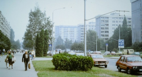 Southeast - Europe tour summer 89:Prefabricated building district in Brasov, Romania