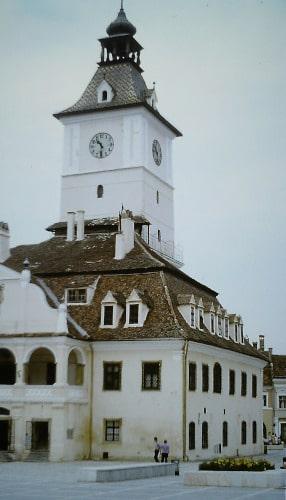 Südost - Europa-Tour Sommer 89: Rathaus von Brasov / Kronstadt in Siebenbürgen
