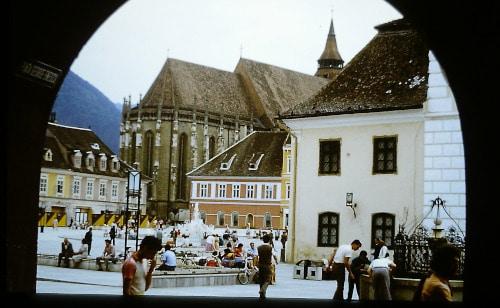 Brasov / Kronstadt Sommer 89: Markt, Schwarze Kirche - Siebenbürgen