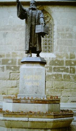 Sommer 89: Honterus - Denkmal Brasov / Kronstadt Siebenbürgen