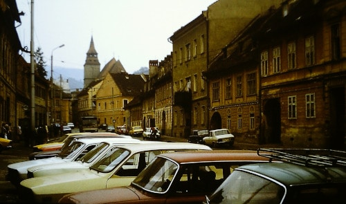 Sommer 89: Straßé in Brasov / Kronstadt, Siebenbürgen