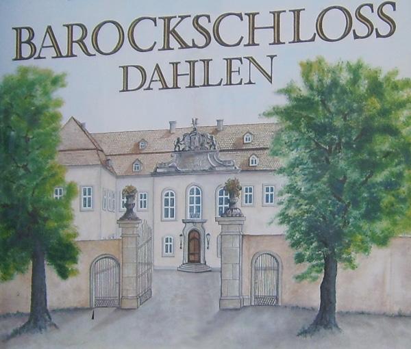 Repro- Ansicht Barockschloß Dahlen
