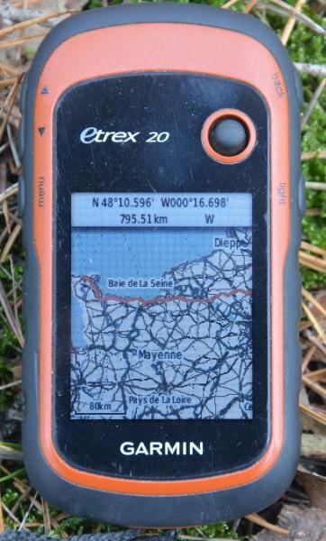 cyclemap auf openstreetmap-Basis mit track auf Garmin etrex GPS Navigations Gerät