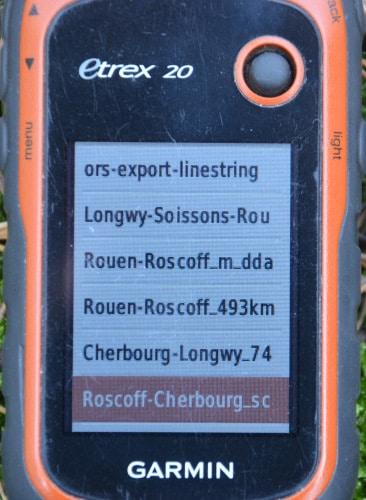 outdoor Navigations-Gerät Garmin eTrex Track-Auswahl