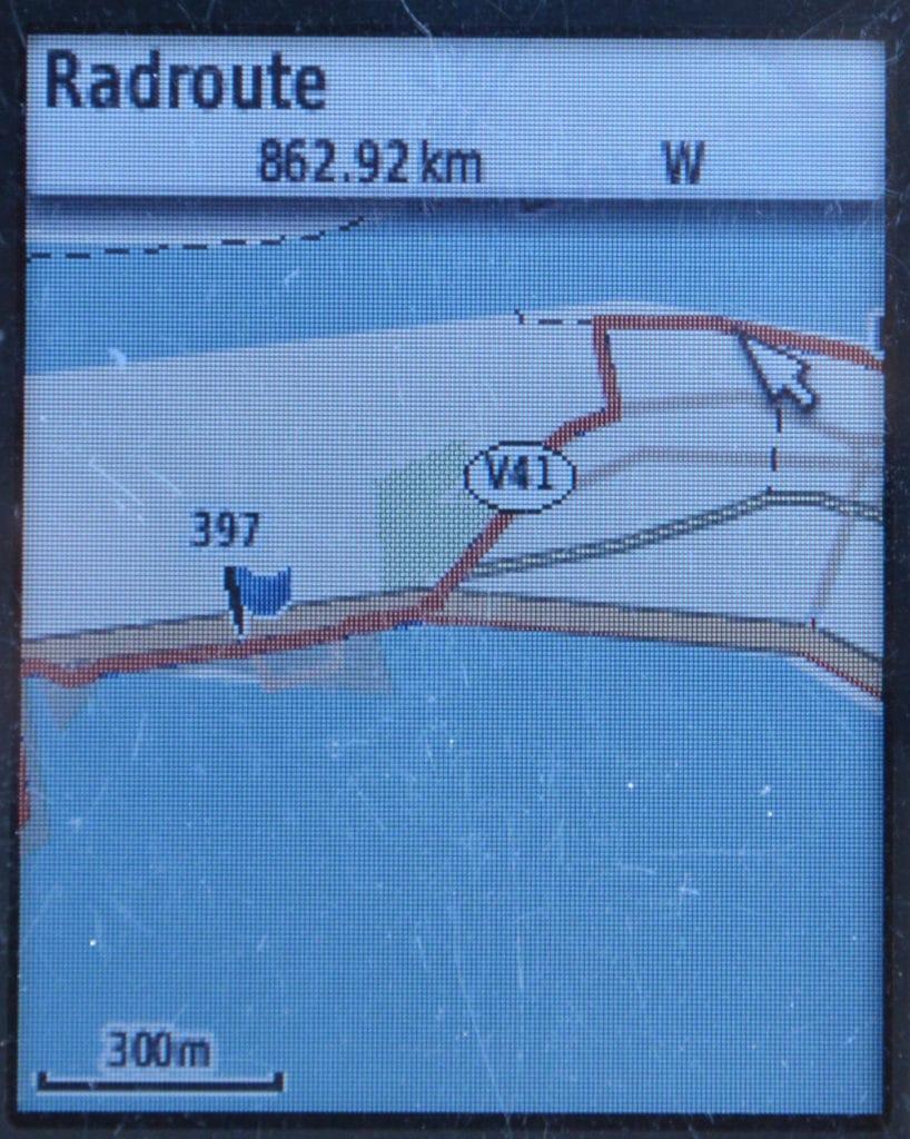 GPS-track - Anzeige zoom auf  etrex Display Radroute