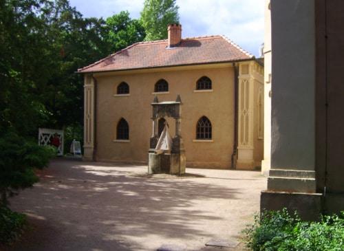 Gartenreich Wörlitz: Hofbrunnen am Gothischen Haus