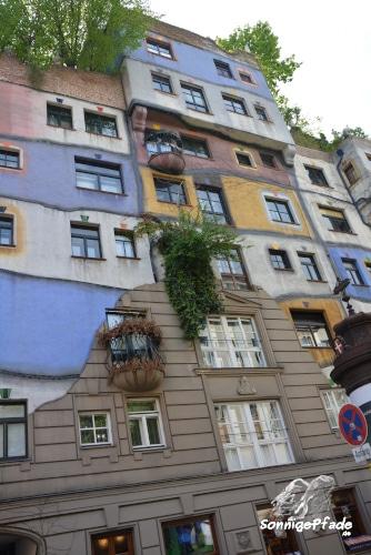 Hundertwasser house Vienna - tree tenants