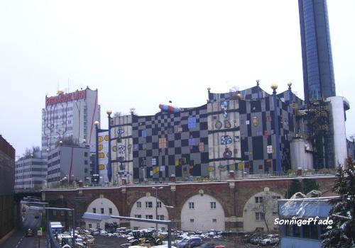 Hundertwasser thermal power plant Vienna Spittelau
