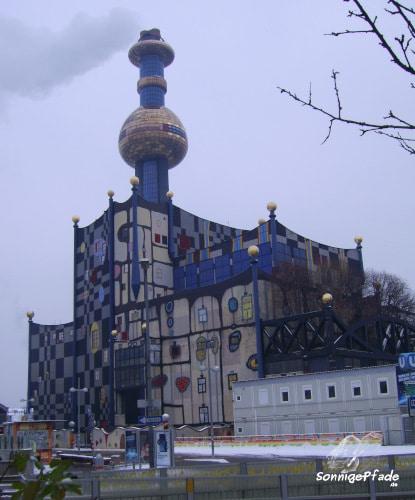 Waste incineration plant Spittelau Vienna with Hundertwasser - facade architecture