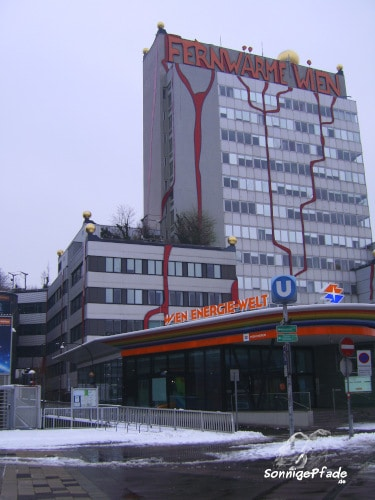 Remote heating company - office building  Vienna with Hundertwasser facade design