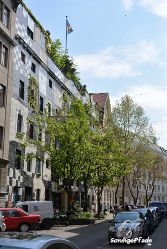 facade of the Kunsthaus Vienna, art Museum of Friedensreich Hundertwasser