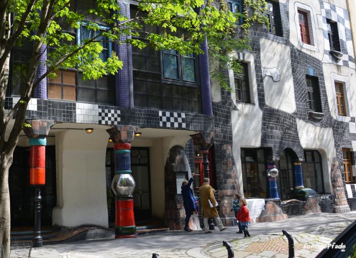 Fantastic houses by Friedensreich Hundertwasser in Vienna