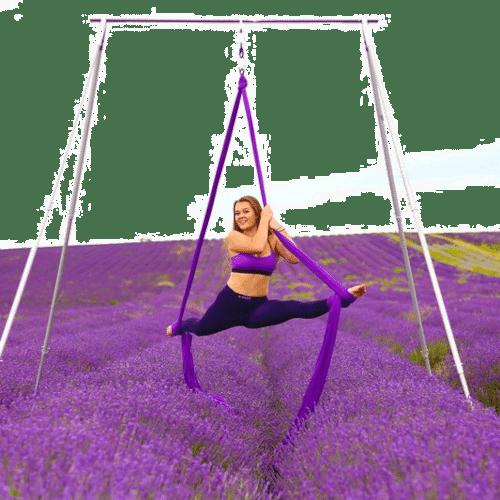 A-frame aerial yoga Gestell Stahl, auch für Vertikal - Tuch oder Seilübungen geeignet